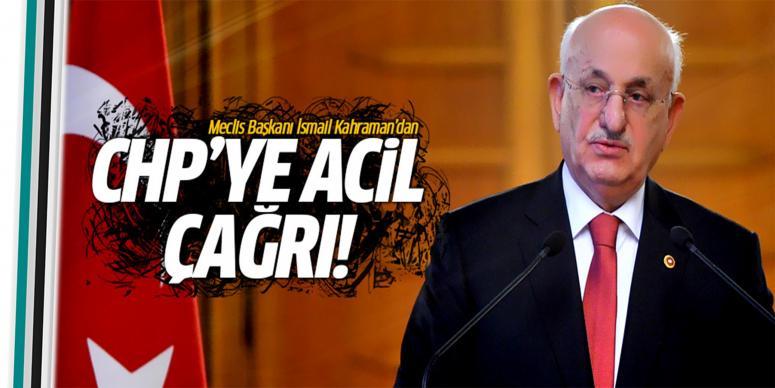 İsmail Kahraman'dan CHP'ye çağrı