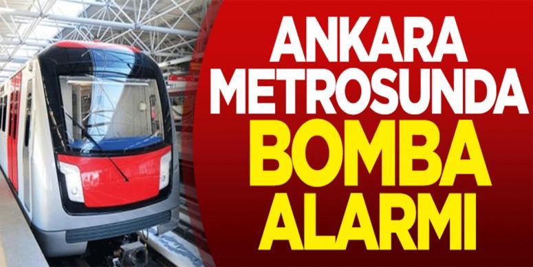Ankara metrosunda gergin anlar