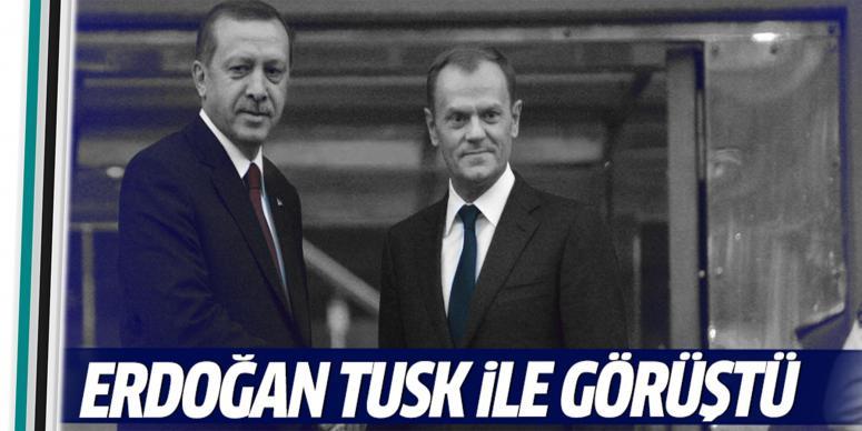 Erdoğan, Donald Tusk ile görüştü