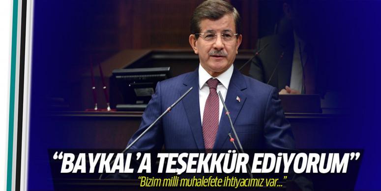 Davutoğlu'ndan Deniz Baykal'a teşekkür