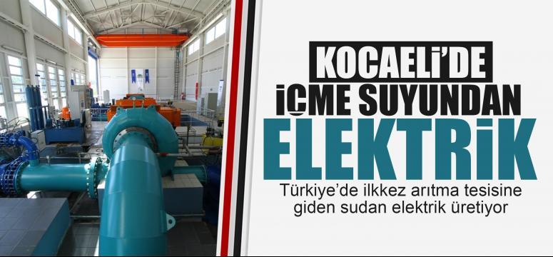 Kocaeli'de içme suyundan elektrik
