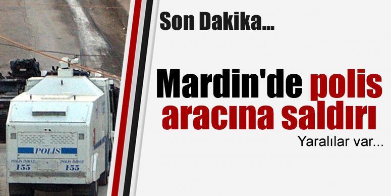 Mardin'de polis aracına saldırı, yaralılar var