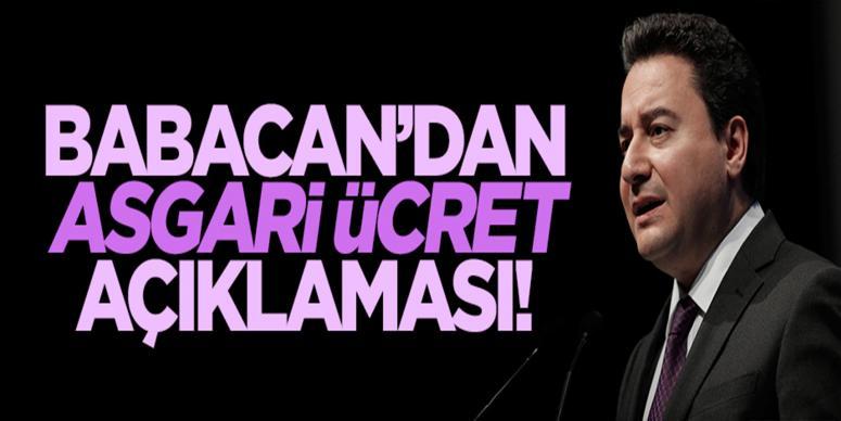 Ali Babacan'dan asgari ücret açıklaması!