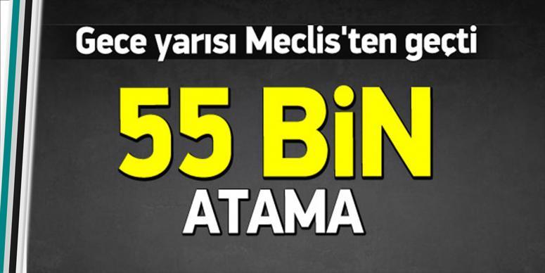 55 bin atama