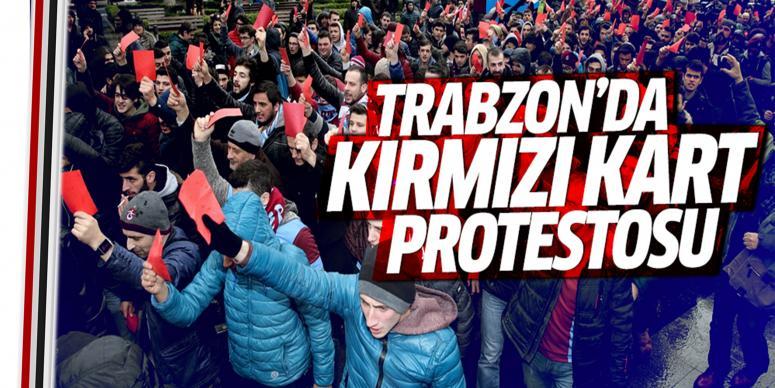 Trabzon'da 'kırmızı kart' eylemi