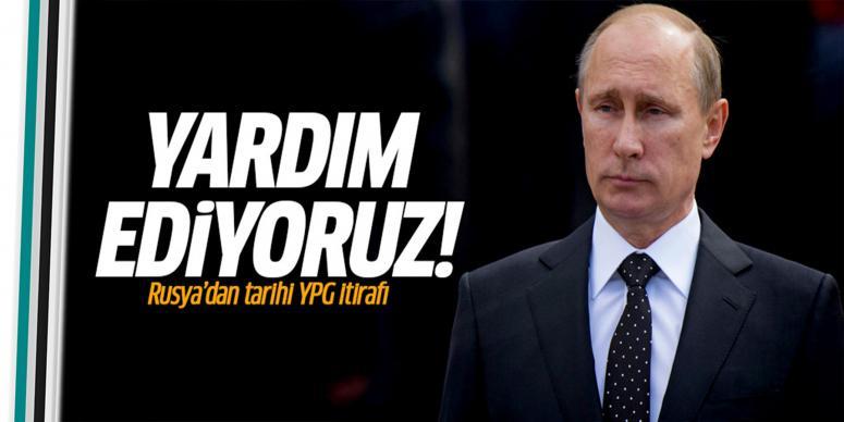 Rusya'dan tarihi YPG itirafı!