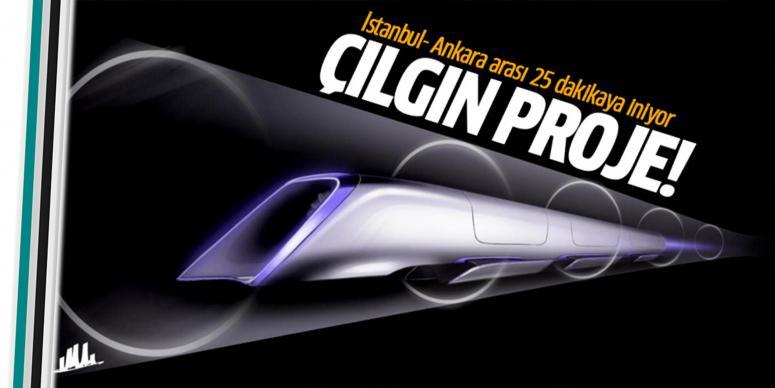 İstanbul-Ankara Hyperloop'la 25 dakika oluyor