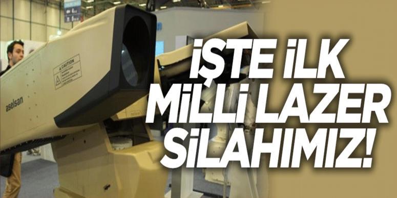 İşte ilk milli lazer silahımız