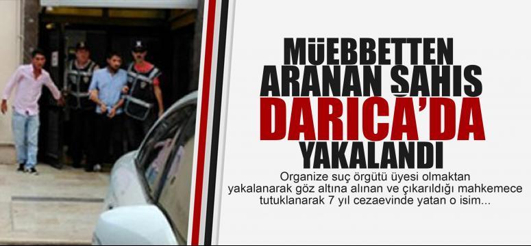 Müebbetten aranan şahıs Darıca'da yakalandı