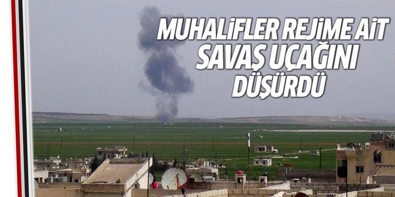 Muhalifler Halep'te savaş uçağı düşürdü