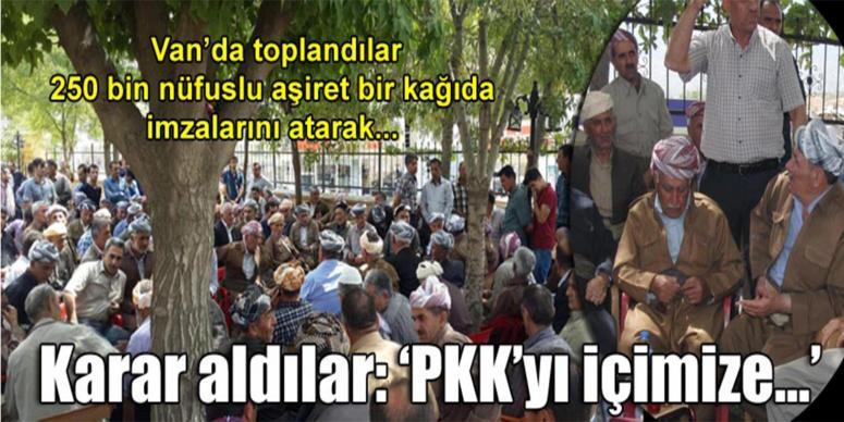 'PKK'yı içimize almayacağız, devletin yanındayız'