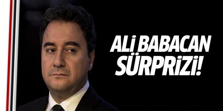 Ali Babacan sürprizi
