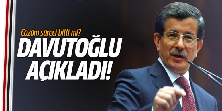 Davutoğlu'ndan çözüm süreci açıklaması