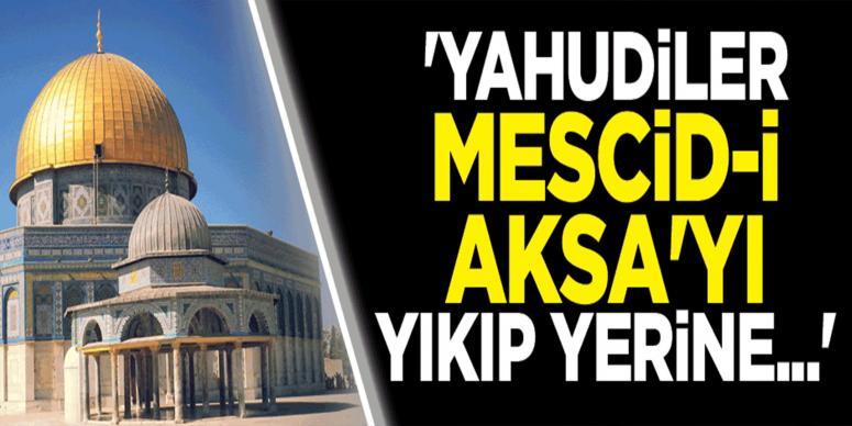 'İsrail Mescid-i Aksa'ya yönelik yeni ihlaller hazırlıyor'
