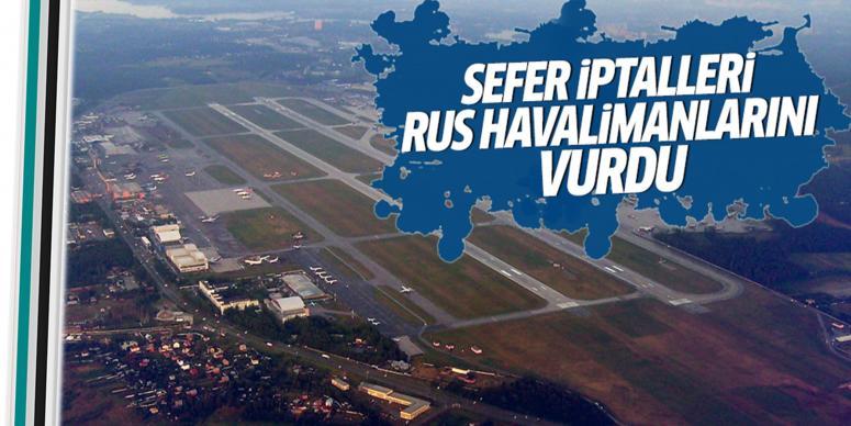 Rus havalimanlarını vurdu