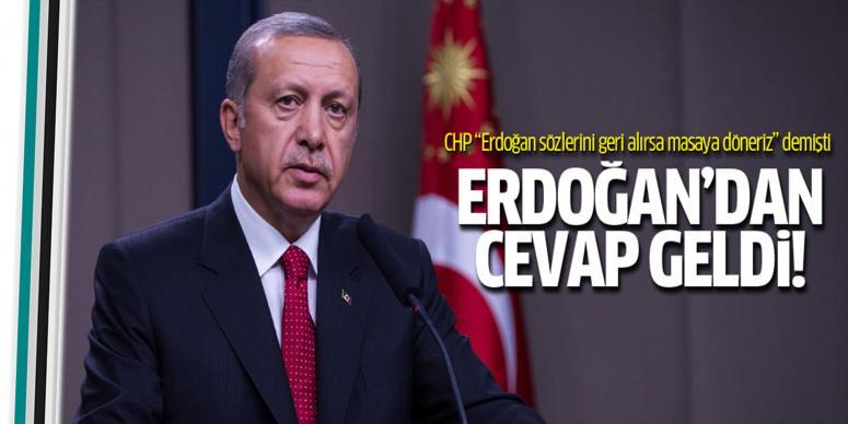 Erdoğan'dan CHP'nin AYM şartına yanıt geldi!