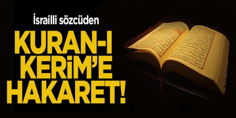 Kuran-ı Kerim'e hakaret!