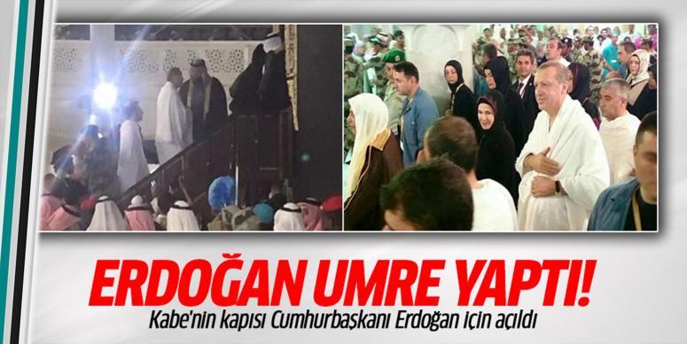 Cumhurbaşkanı Erdoğan'a özel Kabe'yi açtılar