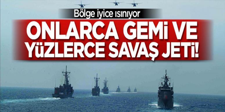 Onlarca gemi ve yüzlerce savaş jeti