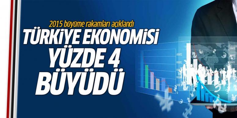 Türkiye ekonomisinde yüzde 4 büyüme görüldü