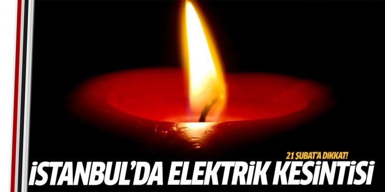 İstanbul'un 7 ilçesinde elektrik kesintisi