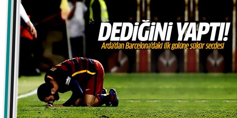 Arda'dan Barcelona'daki ilk golüne şükür secdesi