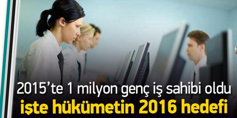 2015'te 1 milyon genç iş sahibi oldu