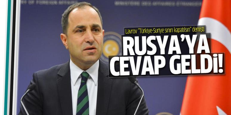 Türkiye'den Dışişleri Bakanı Lavrov'a yanıt geldi