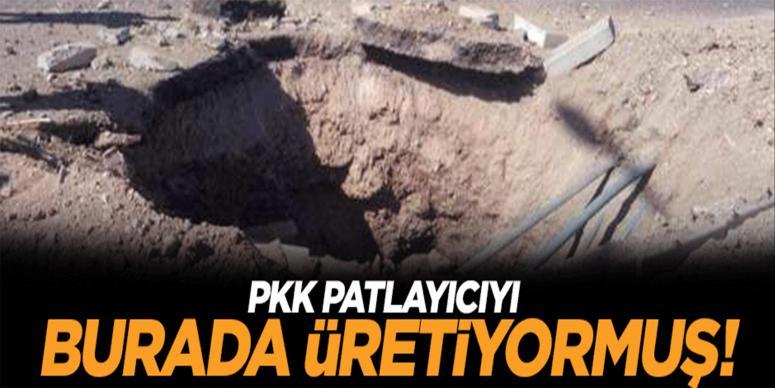 PKK patlayıcıyı burada üretiyormuş!