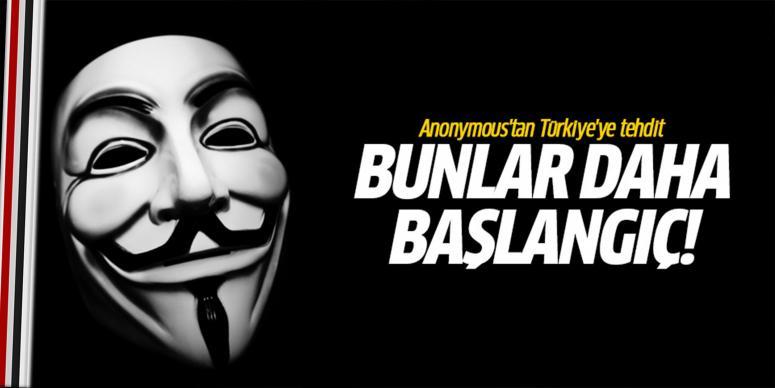 Anonymous'tan Türkiye'ye tehdit