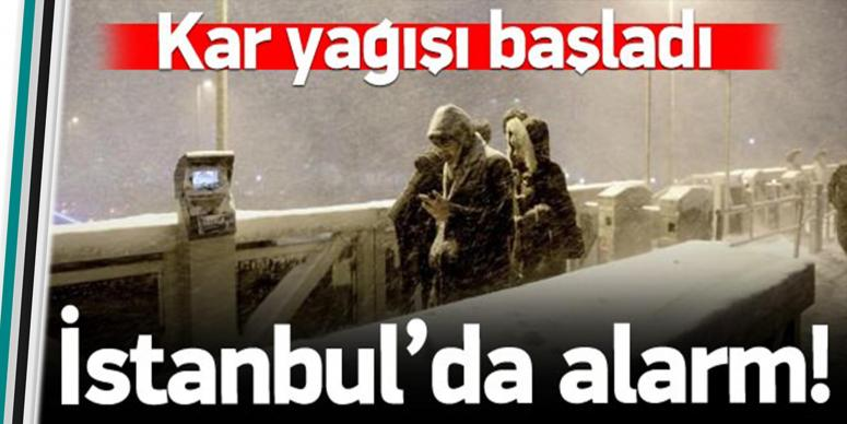 Marmara'da kar yağışı başladı