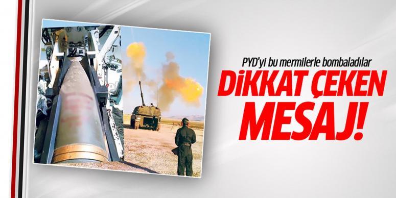 YPG'ye atılan mermilere bakın ne mesaj yazdılar!