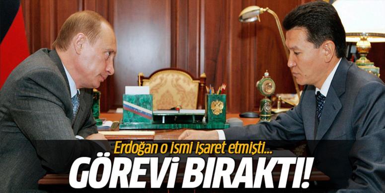 Erdoğan'ın bahsettiği o isim görevini bıraktı