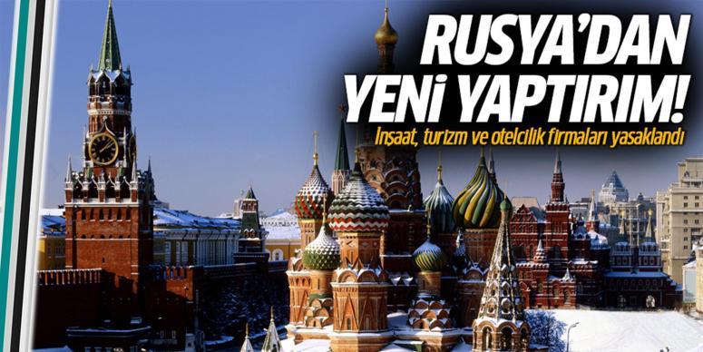 Rusya'dan yeni yaptırımlar