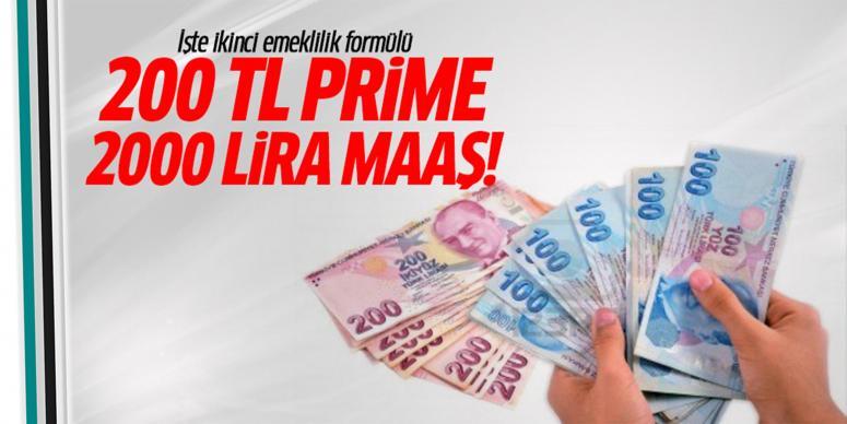 200 TL prime 2000 lira maaş