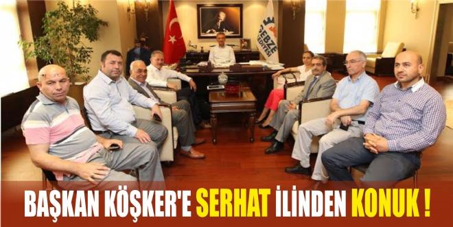 Başkan Köşker'e Serhat ilinden konuk