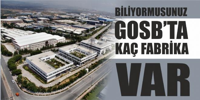 GOSB'ta kaç fabrika var?