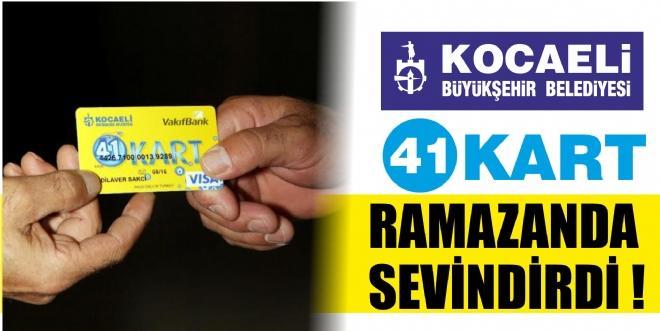 41 kart Ramazan'da sevindirdi