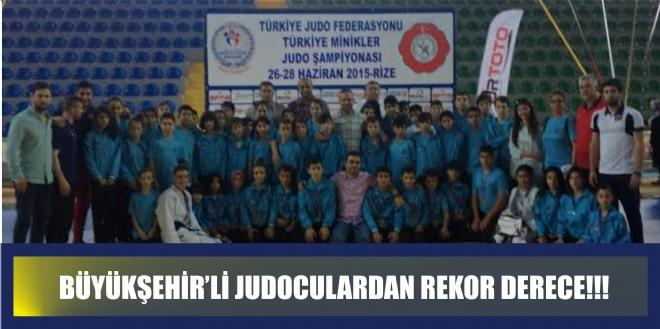 Büyükşehirli Judoculardan Rekor Türkiye Derecesi
