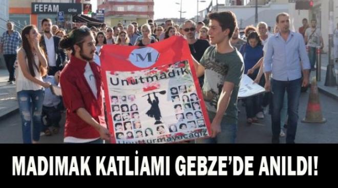 MADIMAK KATLİAMI GEBZE'DE ANILDI!