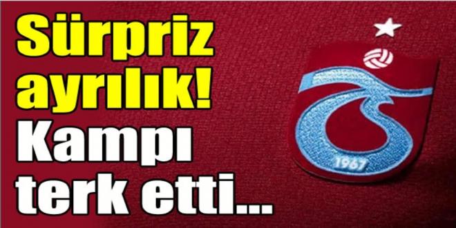Trabzonspor'da sürpriz ayrılık!