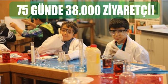 Bilim Merkezi'ne 75 günde 38.000 ziyaretçi!