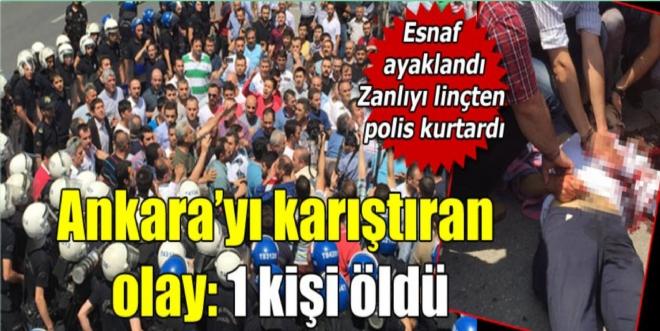 Ankara'da otopark protestosunda silahlı saldırı