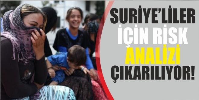 Suriyeliler için risk haritası çıkartılıyor