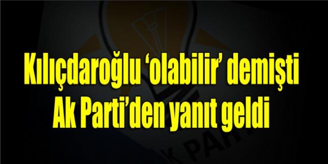 Kılıçdaroğlu'nun 'dönüşümlü başbakanlık' önerisi AKP'den kabul görmedi
