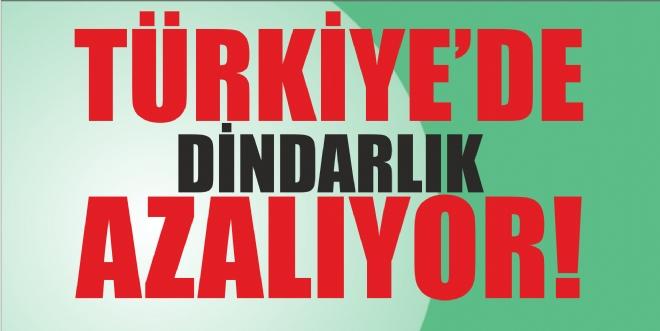 TÜRKİYE'DE DİNDARLIK AZALIYOR!