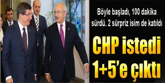 Başbakan Davutoğlu, CHP Genel Merkezi'nde...