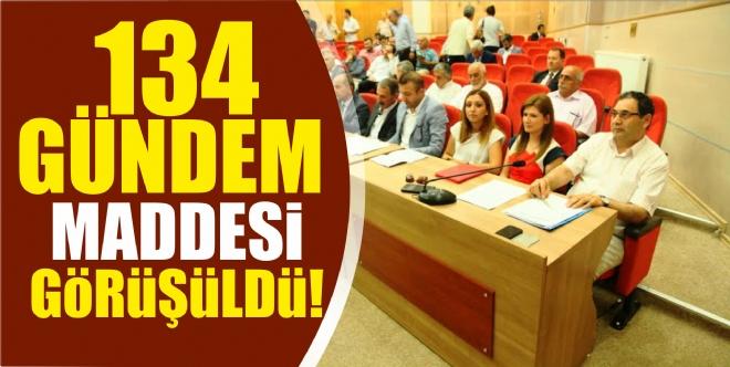 Mecliste 134 gündem maddesi görüşüldü