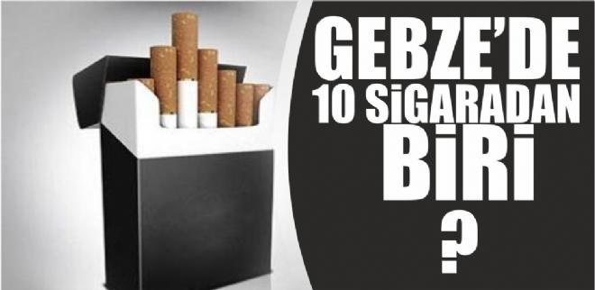 Gebze'de 10 sigaradan biri kaçak