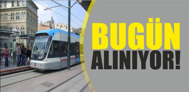 Büyükşehir tramvayları bugün satın alıyor